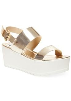 Steve Madden Women's Wave Two-Piece Platform Wedge Sandals Women's Shoes