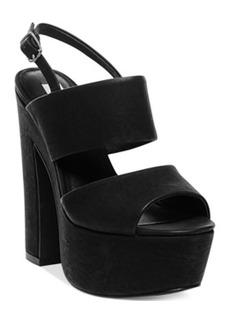 Steve Madden Women's Wellthy Slingback Platform Sandals Women's Shoes