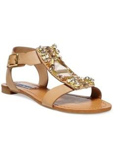 Steve Madden Women's Wiktor Embellished Flat Sandals Women's Shoes