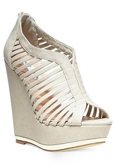 Steve Madden Women's Wresse Caged Platform Wedge Sandals