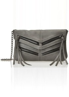 Steve Madden Zipper Shoulder Bag, Grey, One Size
