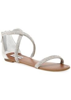 Steve Madden Zsaza Bling Flat Sandals Women's Shoes