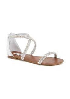 Steve Madden 'Zsaza' Crystal Embellished Strappy Sandal (Women)