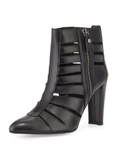 Airliner Cutout Ankle Bootie, Black   Airliner Cutout Ankle Bootie, Black
