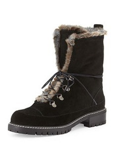 Bobsled Shearling-Trim Combat Boot   Bobsled Shearling-Trim Combat Boot
