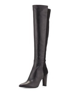 Demivoom Leather Over-the-Knee Boot, Black   Demivoom Leather Over-the-Knee Boot, Black