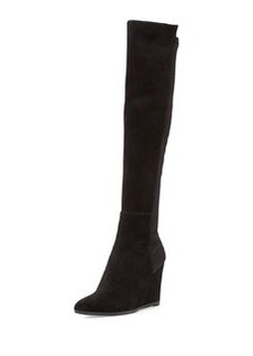 Demivoom Suede/Stretch Wedge Boot, Black   Demivoom Suede/Stretch Wedge Boot, Black