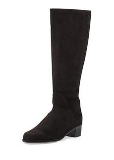 Easyzip Suede Knee Boot, Black   Easyzip Suede Knee Boot, Black