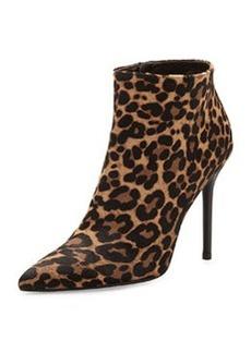 Hitimes Leopard-Print Calf Hair Ankle Boot, Chocolate   Hitimes Leopard-Print Calf Hair Ankle Boot, Chocolate