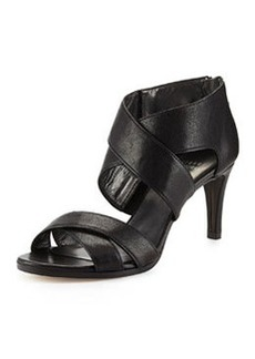 Stuart Weitzman HugMe Leather Crisscross Sandal, Black