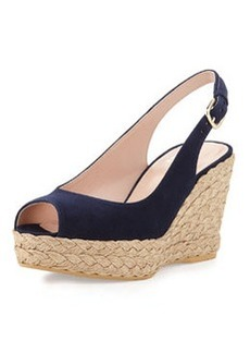 Jean Suede Jute Wedge, Nice Blue   Jean Suede Jute Wedge, Nice Blue