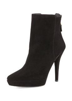 Mizzip Suede Point-Toe Ankle Boot, Black   Mizzip Suede Point-Toe Ankle Boot, Black
