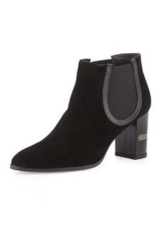Nostress Suede Stretch Ankle Boot, Black   Nostress Suede Stretch Ankle Boot, Black