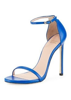 Nudist Leather Ankle-Strap Sandal, Ultramarine   Nudist Leather Ankle-Strap Sandal, Ultramarine