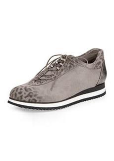 Stuart Weitzman Relay Leopard-Print Sneaker, Cement