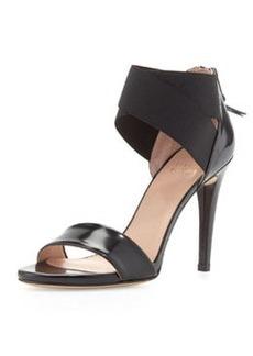 Sexyflex Leather Stretch Sandal, Black   Sexyflex Leather Stretch Sandal, Black