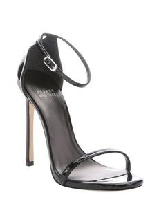 Stuart Weitzman black patent leather 'Nudist' stiletto sandals