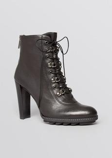 Stuart Weitzman Booties - Nutyra Lace Up High Heel