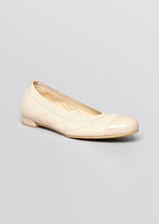 Stuart Weitzman Cap Toe Ballet Flats - Quiltable Stretch
