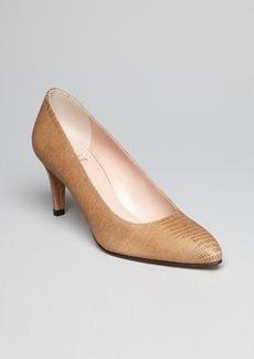 Stuart Weitzman Exotic Pointed Toe Pumps - Mimi Mid Heel