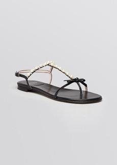 Stuart Weitzman Flat Sandals - Pearlize