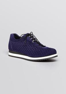 Stuart Weitzman Lace Up Demiwedge Sneakers - Relay