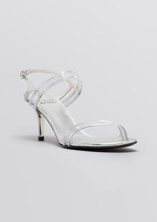 Stuart Weitzman Open Toe Evening Sandals - Cinematic Mid Heel
