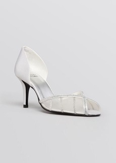 Stuart Weitzman Peep Toe D'Orsay Evening Pumps - Radiance