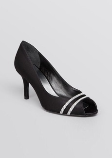 Stuart Weitzman Peep Toe Evening Pumps - Glohotwire High Heel