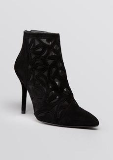 Stuart Weitzman Pointed Toe Booties - Cutaway High Heel