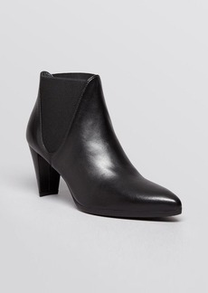 Stuart Weitzman Pointed Toe Booties - Scooped Stretch