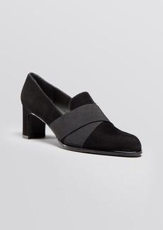 Stuart Weitzman Pointed Toe Loafer Pumps - Getaround High Heel