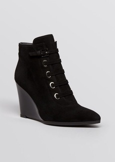 Stuart Weitzman Pointed Toe Wedge Booties - Strapify