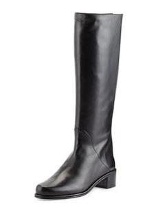 Stuart Weitzman Rambler Leather Knee Boot, Black