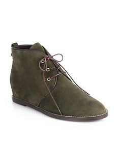 Stuart Weitzman Rove Suede Wedge Ankle Boots