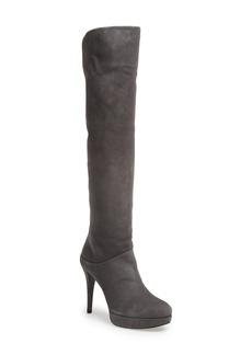 Stuart Weitzman Scrunchy Suede Knee High Boot (Women)