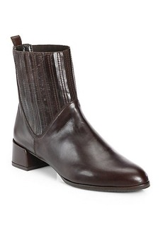 Stuart Weitzman Slash Leather Ankle Boots