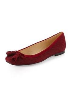 Tulipbow Goosebump Ballerina Flat, Scarlet   Tulipbow Goosebump Ballerina Flat, Scarlet