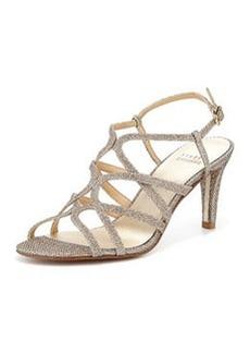 TurningUp Strappy Glitter Sandal, Platinum   TurningUp Strappy Glitter Sandal, Platinum