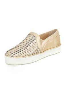 Stuart Weitzman Weavewear Woven Slip-On Sneaker