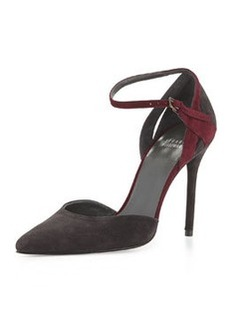 XFactor Suede d'Orsay Pump, Anthracite/Currant   XFactor Suede d'Orsay Pump, Anthracite/Currant