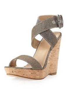 Xray Glitter Cork Wedge, Pyrite   Xray Glitter Cork Wedge, Pyrite