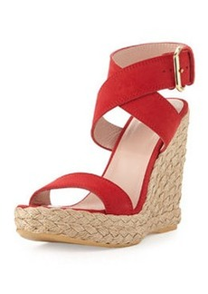 Xray Suede Jute Wedge, Red   Xray Suede Jute Wedge, Red