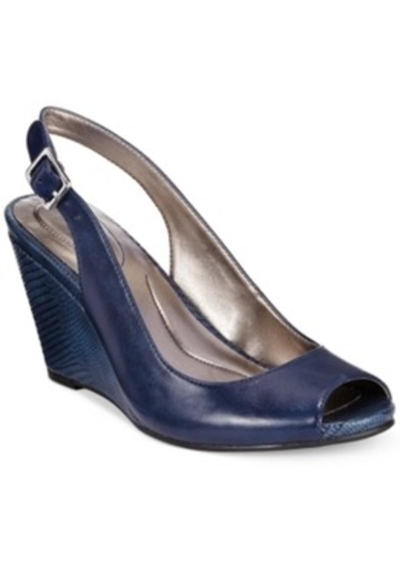 style co style co babeta slingback dress wedge sandals