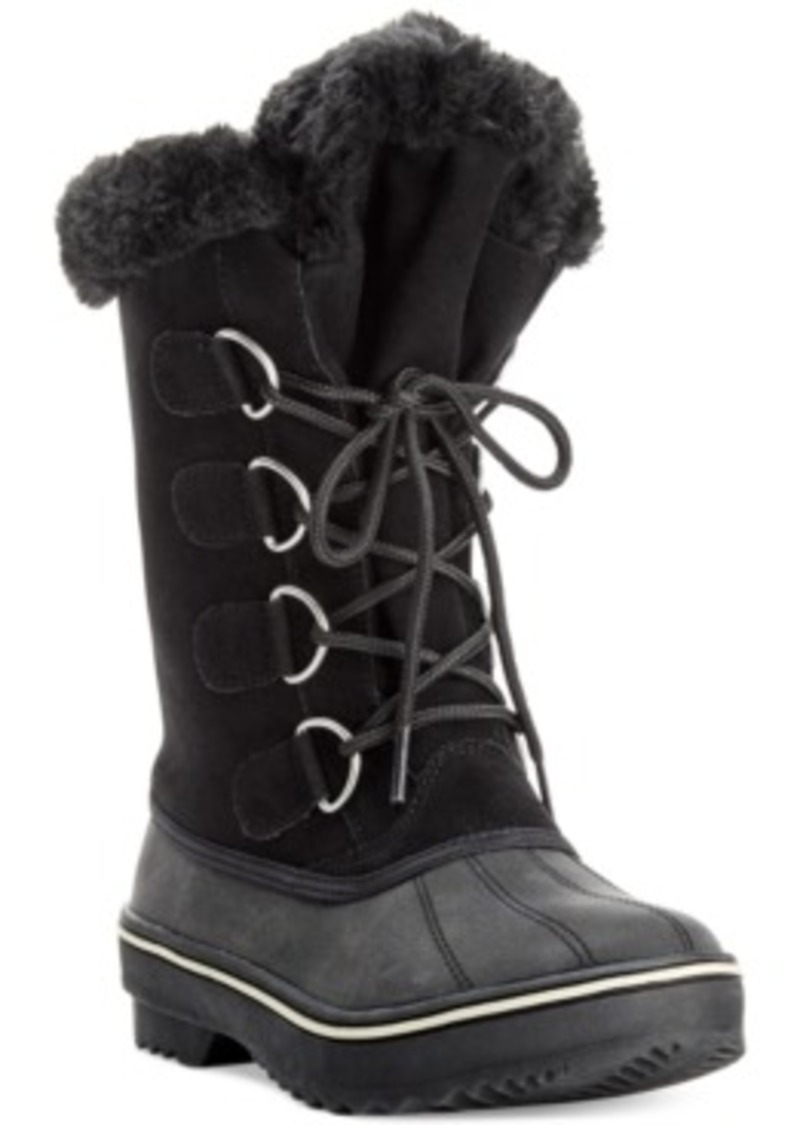 Style&co. Style & co. Mikkey Lace-Up Faux-Fur Cold Weather
