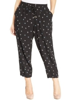 Style & co. Plus Size Bird-Print Soft Capri Pants
