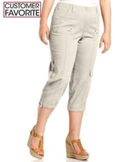 Style & co. Plus Size Cargo Capri Pants