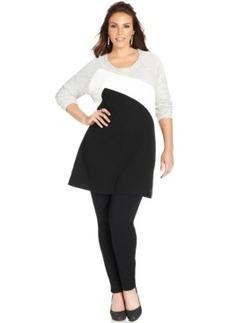 Style & co. Plus Size Colorblocked Tunic Sweatshirt