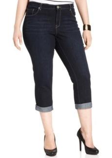 Style & co. Plus Size Curvy-Fit Cuffed Ex-Boyfriend Jeans, Caneel Wash
