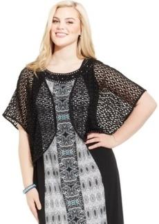 Style & co. Plus Size Dolman-Sleeve Open-Knit Cardigan